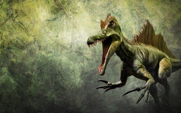 Spinosaurus - dinosaurus air