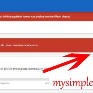 Pembayaran - Cara Verifikasi Identitas Akun Google Adsense